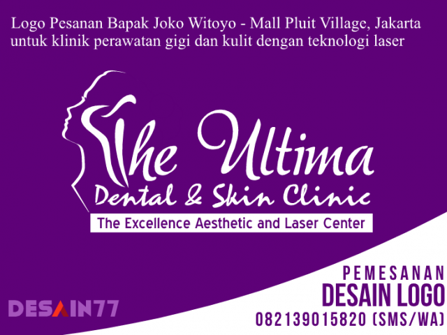 Desain Logo The Ultima Dental & Skin Clinic